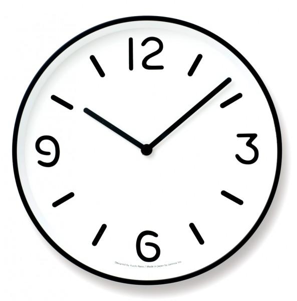 Lemnos Uhr Mono Clock weiß