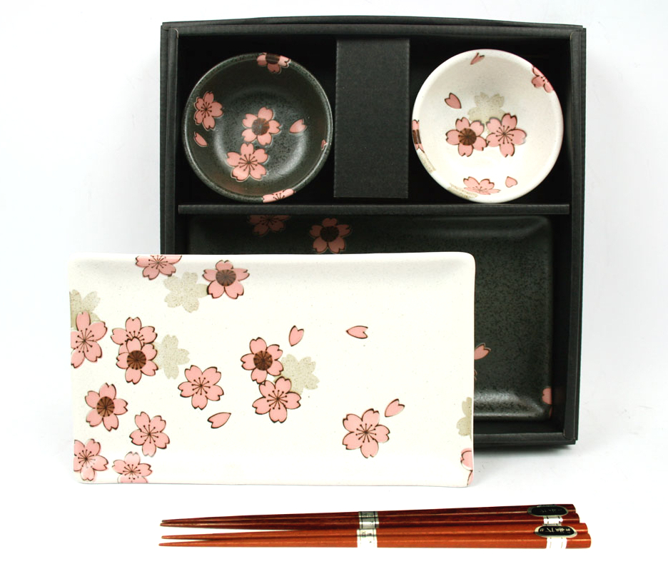japanische sushi set sakura nishu kaufen bei japanshop yumeya japan shop yumeya. Black Bedroom Furniture Sets. Home Design Ideas