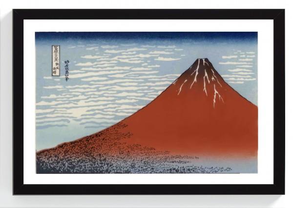 AKAFUJI roter Fuji Hokusai Katsushika