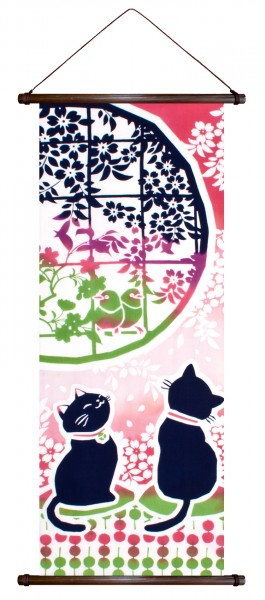 Katze NEKO Wandbehang Rollbild Japan japanische