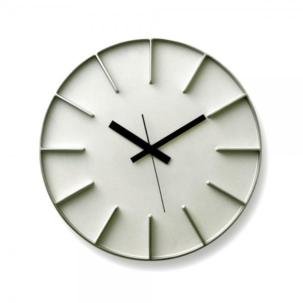 Lemnos Uhr Edge Clock Aluminium