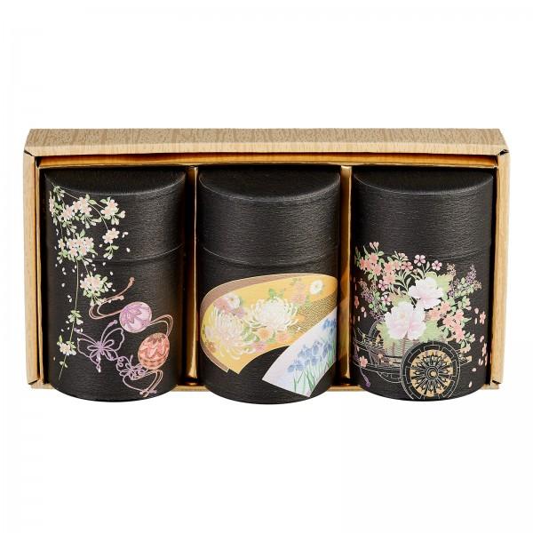Japanische Teedosen Set HANAGURUMA