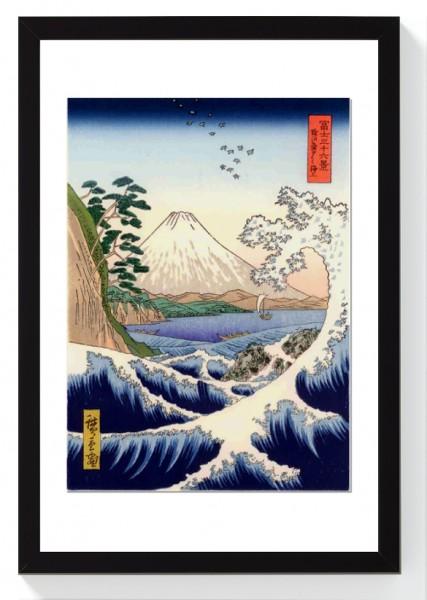 FUJI Hiroshige Rahmen Bilderrahmen Wanddeko Japan