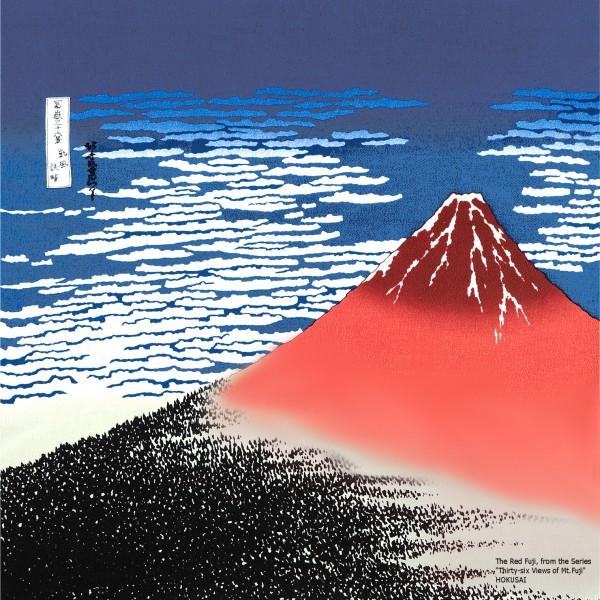 Furoshiki AKAFUJI roter Fuji Japan