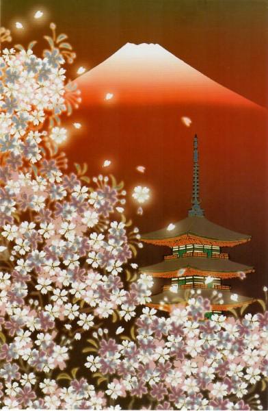 Japan Grußkarte Pagode GOJUUNOTOU