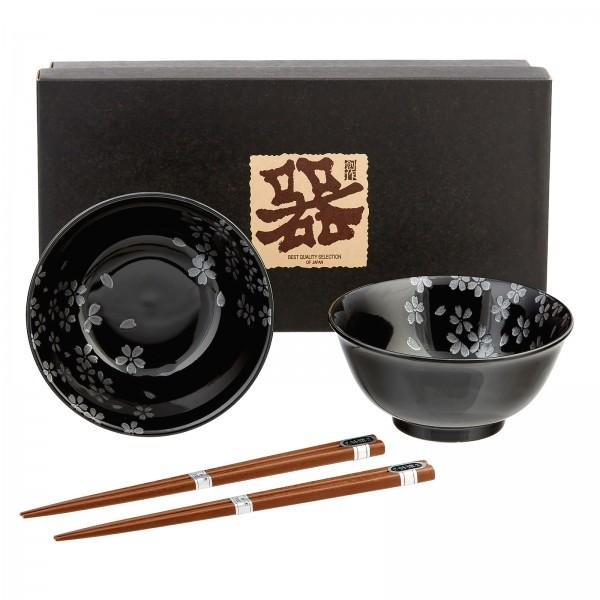 Suppenschüssel-Set KUROJI-SAKURA
