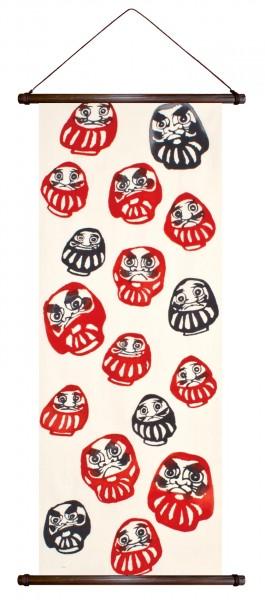 DARUMA japanische Glücksbringer Rollbild Wandbehang  Japan
