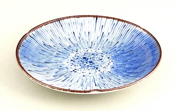 Teller HANABI japan porzellan blau