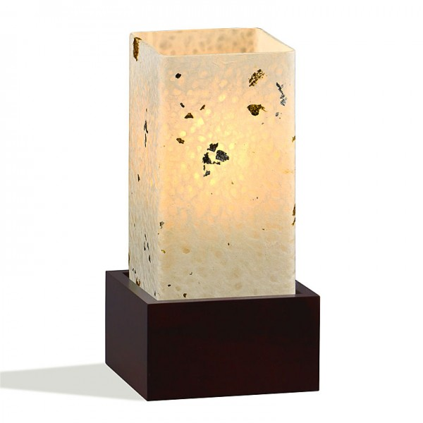 Yumeya Tischleuchte Kinpaku Holz Glas
