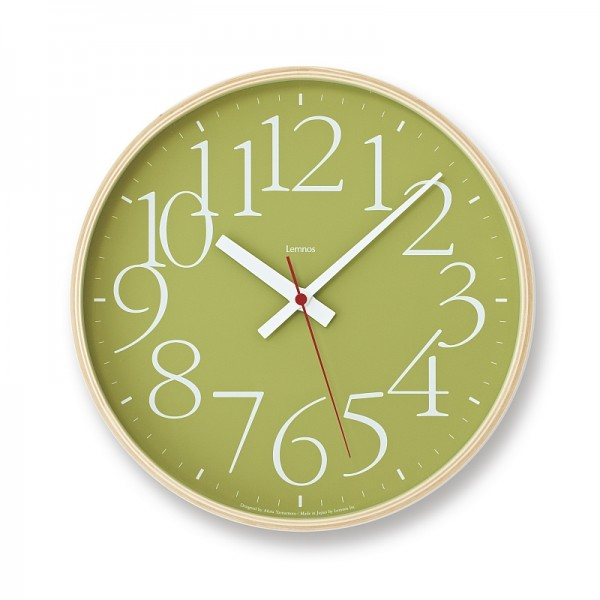 AY Clock groß lemnos grün