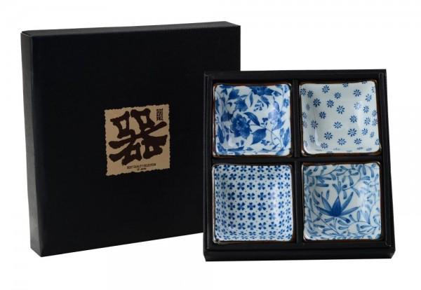EGAWARI Schälchen Japan Schalenset Blau Weiß