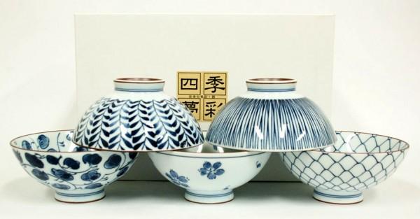 Japanische Reisschale Set TAYO-CHAWAN Japan Schalen Porzellan