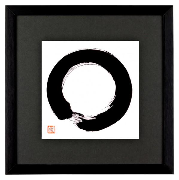 ENSO japanische Kalligraphie Grau