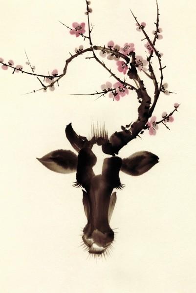 Japan Acrylglasbild HANASAKU-TSUNO