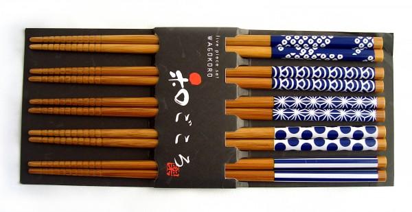 Essstäbchen 5er Set WAMONYOU Japan